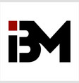 bm ibm initials letter company logo vector image vector image