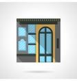 Box office facade flat color design icon vector image vector image