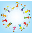 Children in a circle vector image vector image