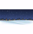 christmas night landscape with houses vector image
