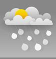 cloud and rain on dark background heavy rain vector image