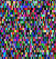 Colorful pattern with chaotic pixels vector image vector image