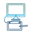 computer and graphic tablet icon vector image vector image