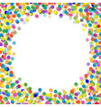 confetti frame vector image vector image