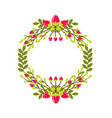 cute wedding wreath with flowers and branches vector image vector image