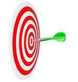 darts hit bulls eye vector image