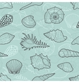 decorative seamless pattern sea shells vector image