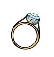 Diamond engagement ring cartoon
