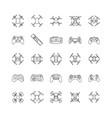 drones line icons vector image vector image
