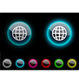 Earth button vector image vector image