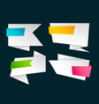 empty blank set of origami banners vector image