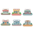 Flower shop laundry barber bakery newsstand vector image vector image