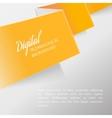 Folded orange paper vector image vector image