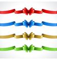 Gift bow and ribbon set vector image