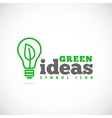 Green Ideas Concept Symbol Icon or Logo Template vector image vector image