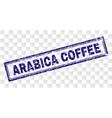 grunge arabica coffee rectangle stamp