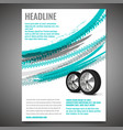 grunge tire poster vector image vector image