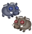 Handmade soft toy boar animal vector image vector image