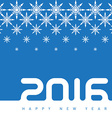 Happy new year 2016 Creative greeting card design vector image vector image