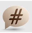 Hashtag sign Brown gradient icon on vector image vector image