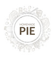 homemade pie banner template with baking vector image