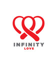 infinity love logo designs vector image