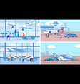 international traveling and tourism plane set vector image vector image