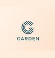 letter g line logo design creative vector image vector image