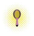 Massage comb icon comics style vector image