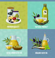 olive oil 4 cartoon icons vector image vector image