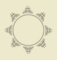 ornament decorative frame 07 vector image vector image