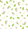 pattern with small buds roses vector image vector image