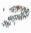 people crowd question mark template vector image vector image