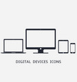 phone tablet laptop computer responsive icons vector image vector image