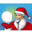 pop art santa claus showing vector image vector image