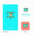 presentation company logo app icon and splash vector image