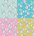 Rabbit pattern design vector image vector image
