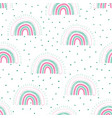 rainbows childish seamless pattern with dots vector image vector image