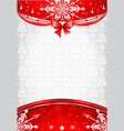 Red and silver christmas background vector image