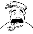 Sailor with tobacco pipe vector | Price: 1 Credit (USD $1)