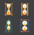 sandglass icon time flat design history second old vector image vector image