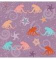 Seamless pattern with octopuses and stars vector image vector image