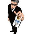 Secret Service Agent Body Guard vector image vector image