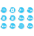 Set of stickers transport BLUE LABEL vector image vector image