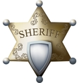 sheriff bage vector image vector image