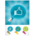 social media lollipops vector image vector image