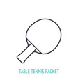 table tennis racket outline icon vector image