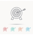 Target with arrow icon Archery aiming sign vector image vector image