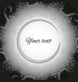 template for greeting cards in black and white vector image vector image