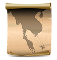 Thailand Vintage Map vector image